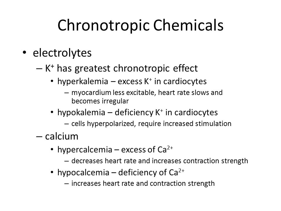 Chronotropic Chemicals