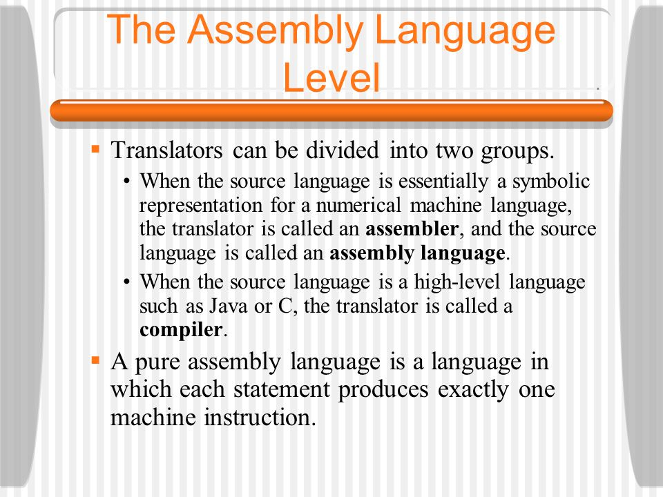 The Assembly Language Level