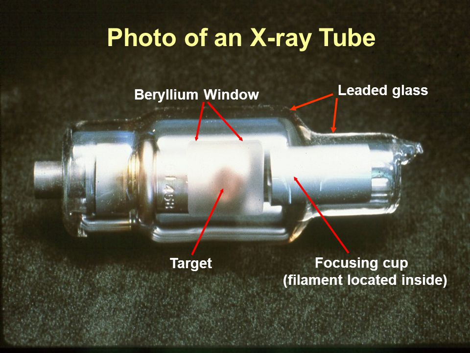 Photo of an X-ray Tube Leaded glass Beryllium Window Target