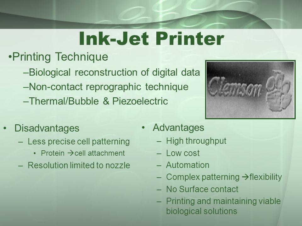 Ink-Jet Printer Printing Technique
