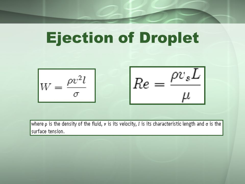 Ejection of Droplet