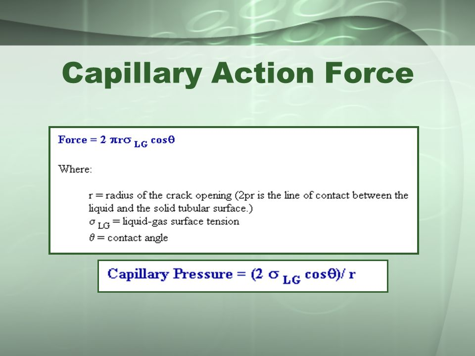 Capillary Action Force