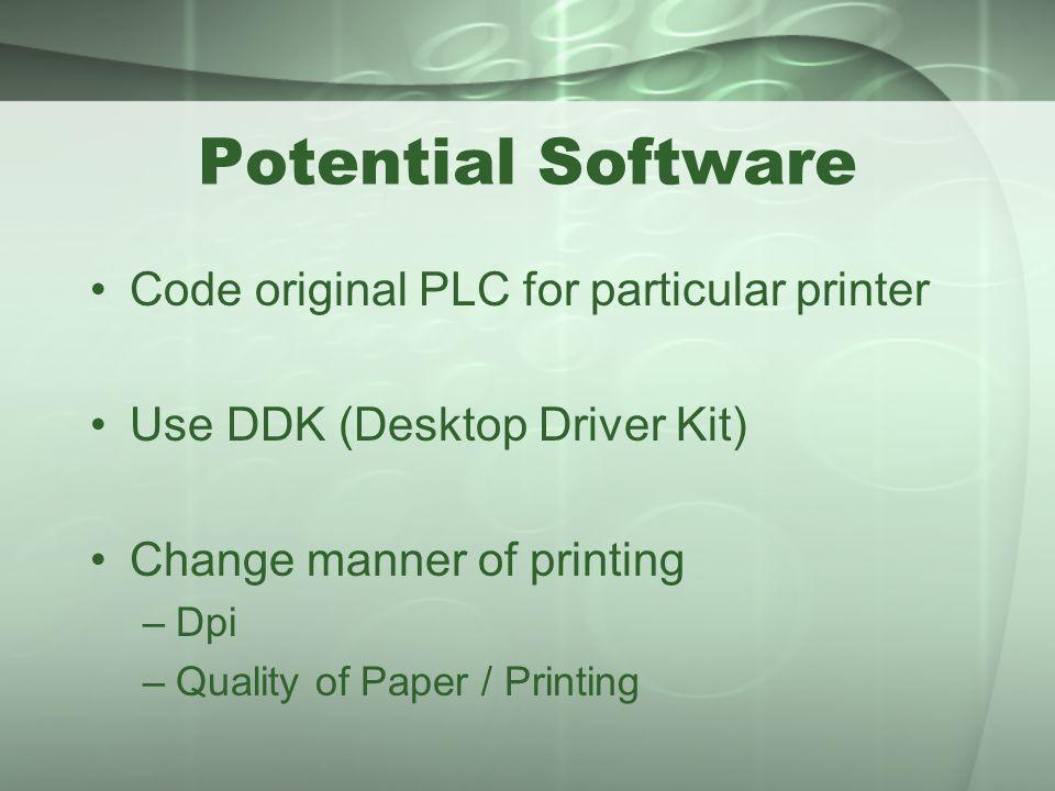 Potential Software Code original PLC for particular printer