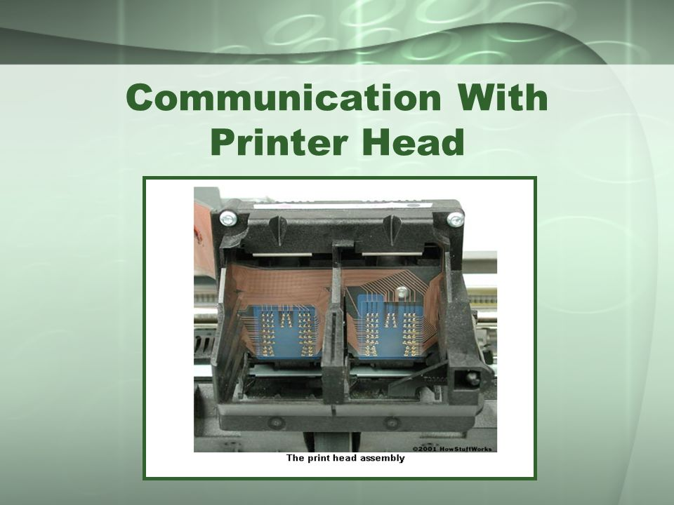 Communication With Printer Head