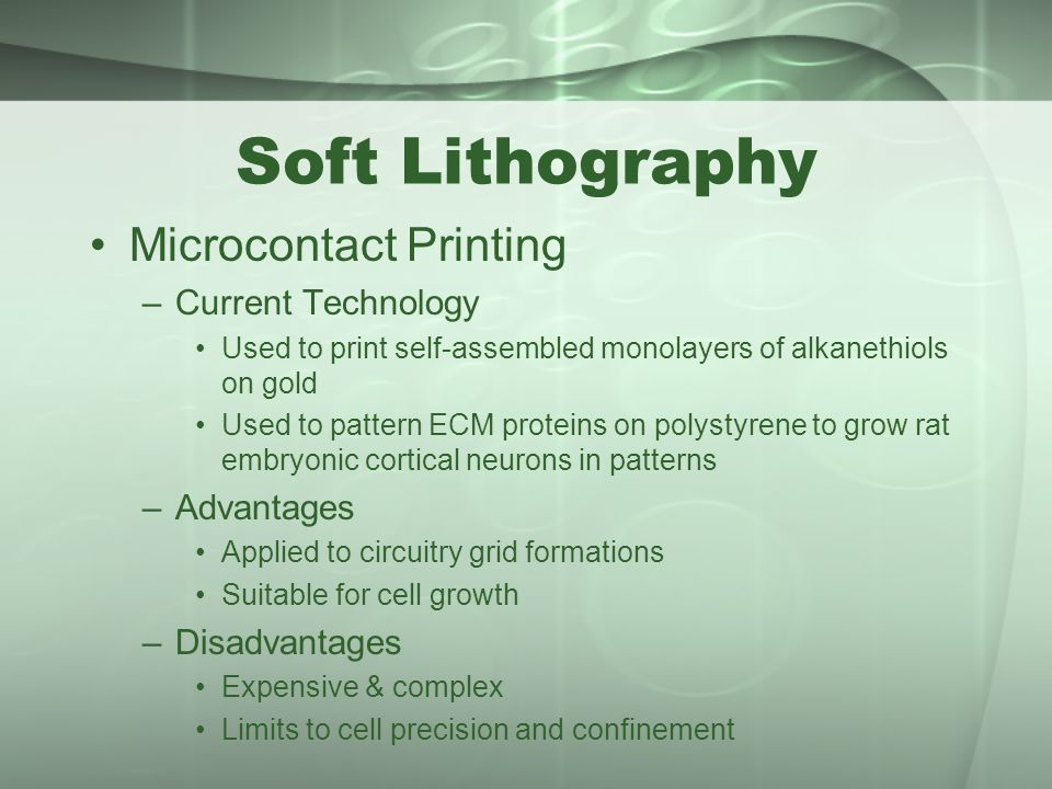 lithography disadvantages 2018/08/18  what are the pros and cons of particle based lithography (ie ebeam or ion beam) versus nanoimprinting method in terms of throughput, maskless vs masked based process, expense, complexity, patterns, resolution.