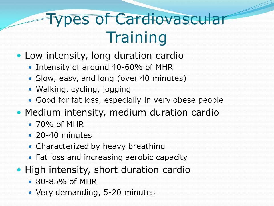 Types of Cardiovascular Training