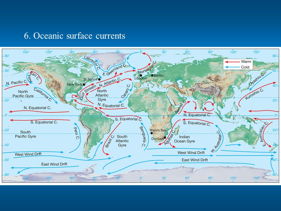 6. Oceanic surface currents