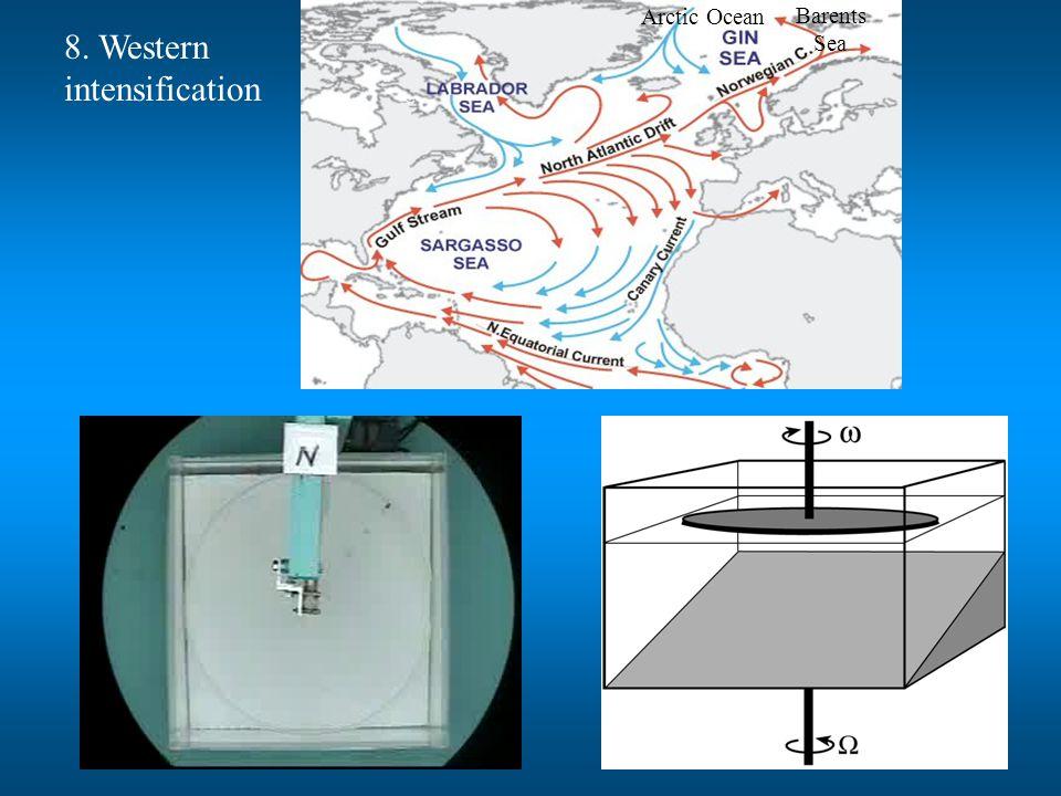 Arctic Ocean Barents Sea 8. Western intensification