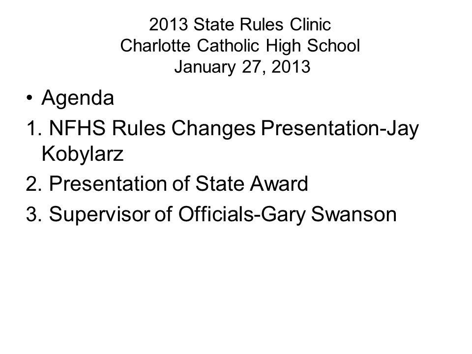 NFHS Rules Changes Presentation-Jay Kobylarz
