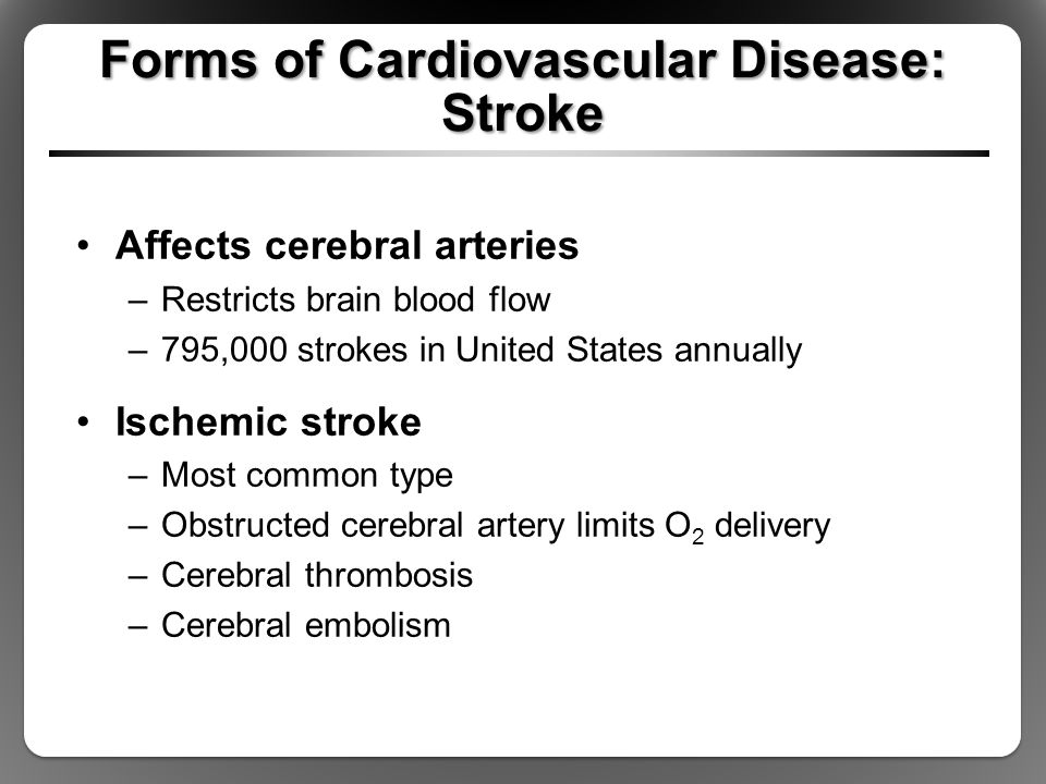Forms of Cardiovascular Disease: Stroke