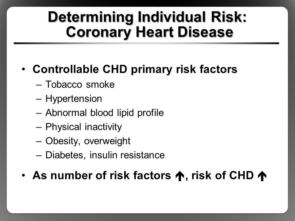 Determining Individual Risk: Coronary Heart Disease