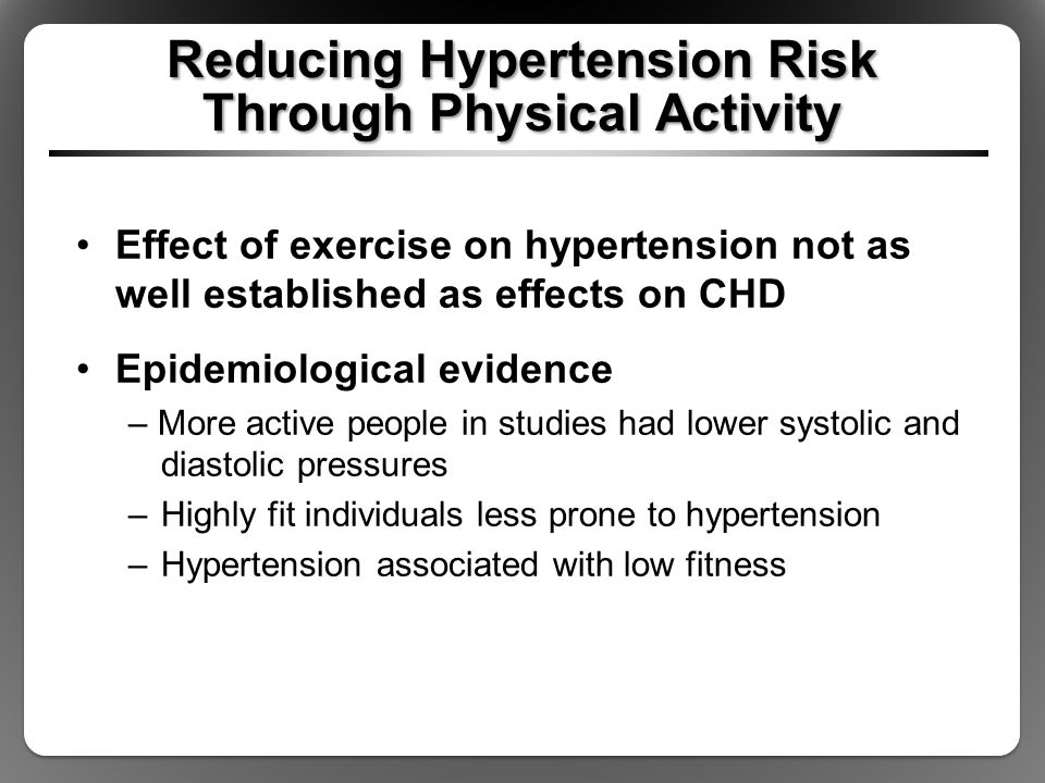 Reducing Hypertension Risk Through Physical Activity