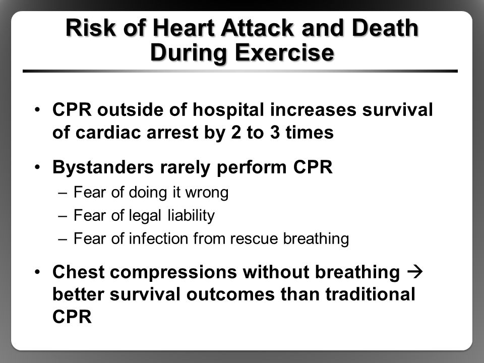 Risk of Heart Attack and Death During Exercise