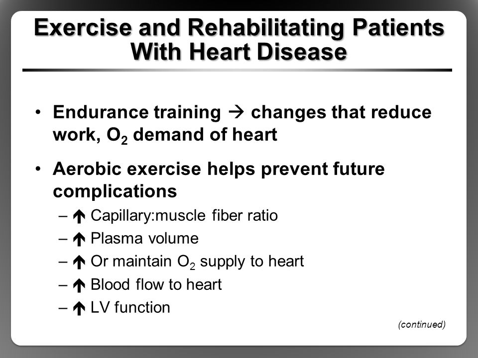 Exercise and Rehabilitating Patients With Heart Disease
