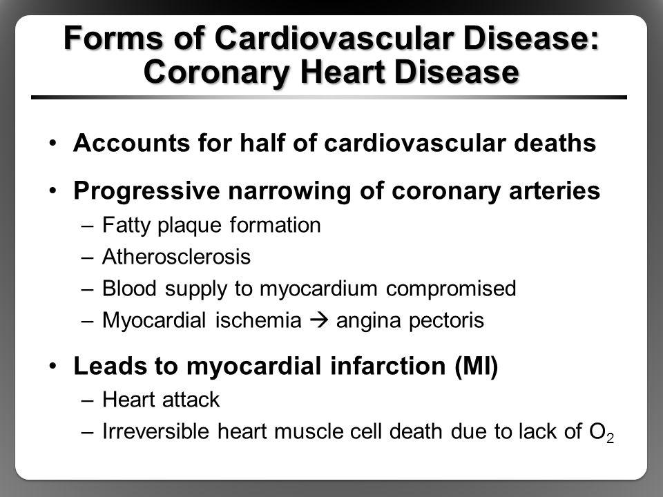 Forms of Cardiovascular Disease: Coronary Heart Disease