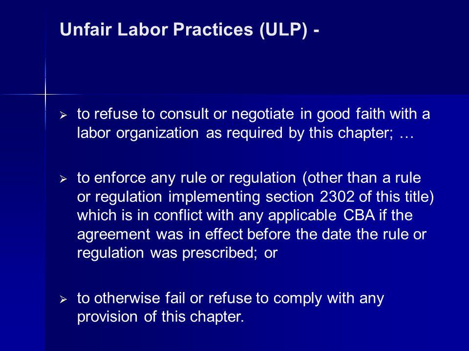 Unfair Labor Practices (ULP) -