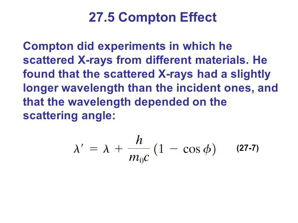 27.5 Compton Effect