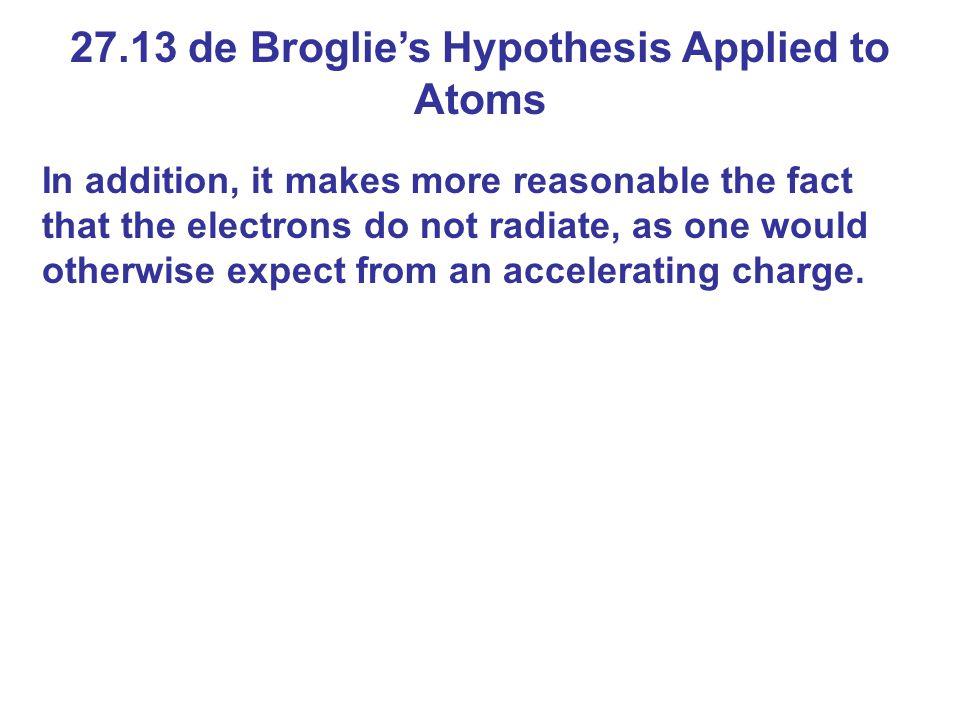 27.13 de Broglie's Hypothesis Applied to Atoms