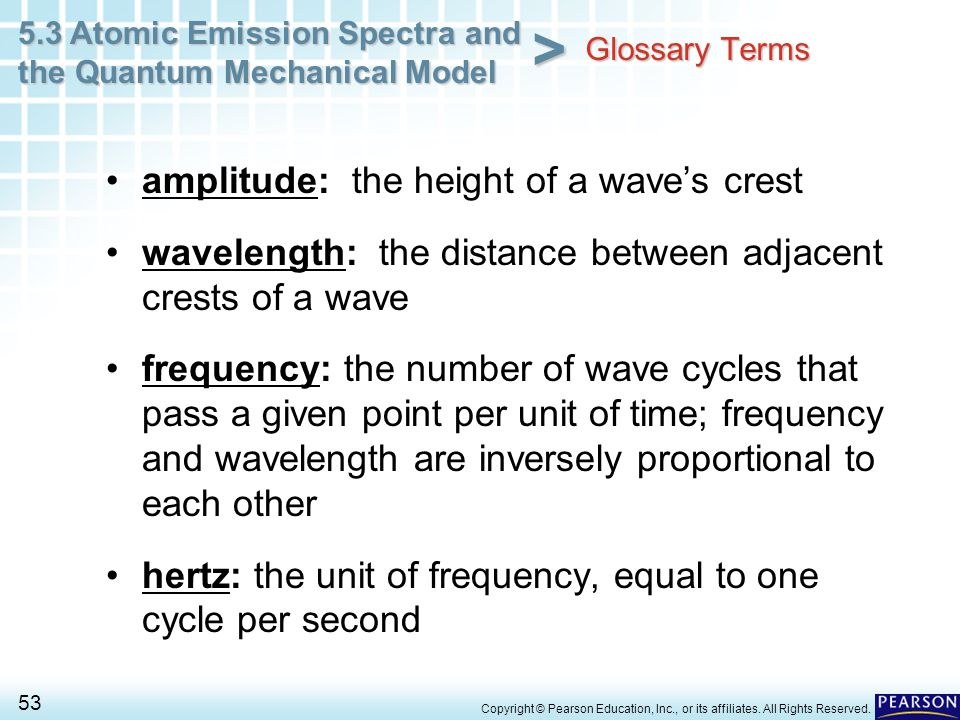 amplitude: the height of a wave's crest