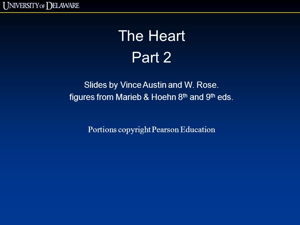 The Heart Part 2 Slides by Vince Austin and W. Rose.
