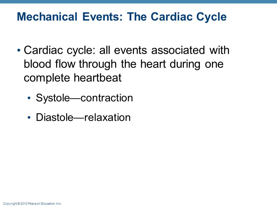 Mechanical Events: The Cardiac Cycle