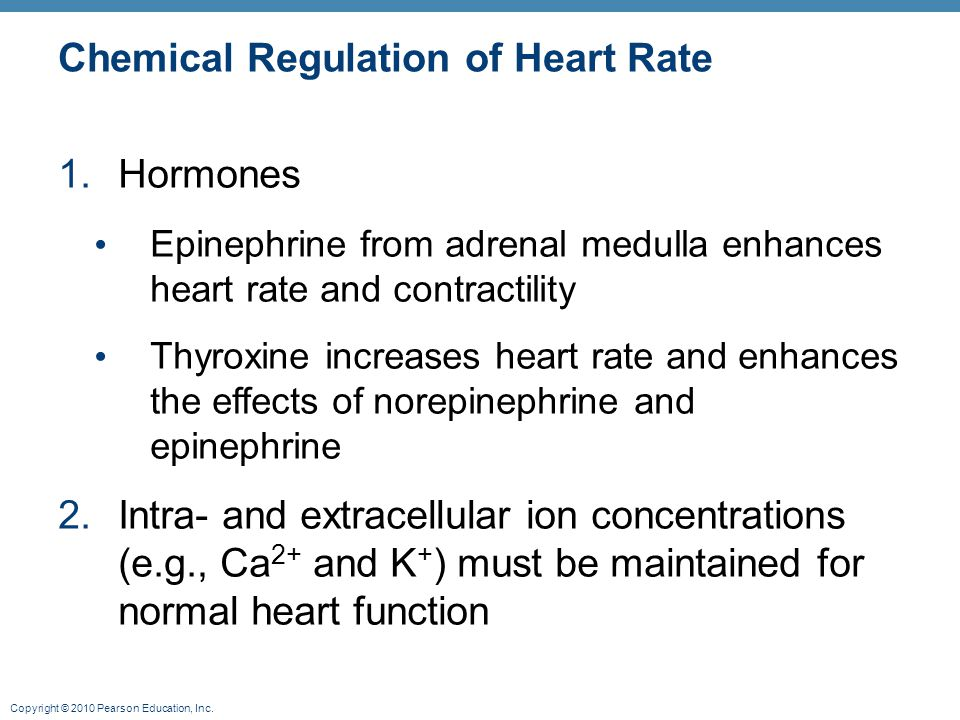 Chemical Regulation of Heart Rate
