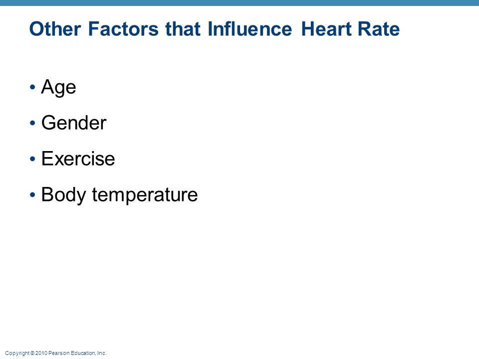 Other Factors that Influence Heart Rate