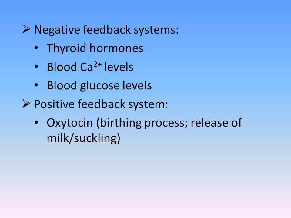 Negative feedback systems: