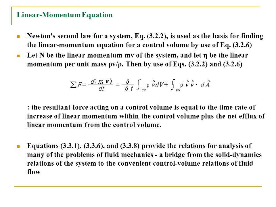 Linear-Momentum Equation