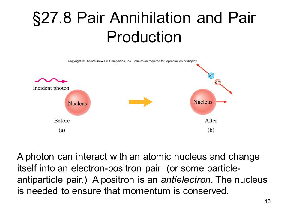 §27.8 Pair Annihilation and Pair Production