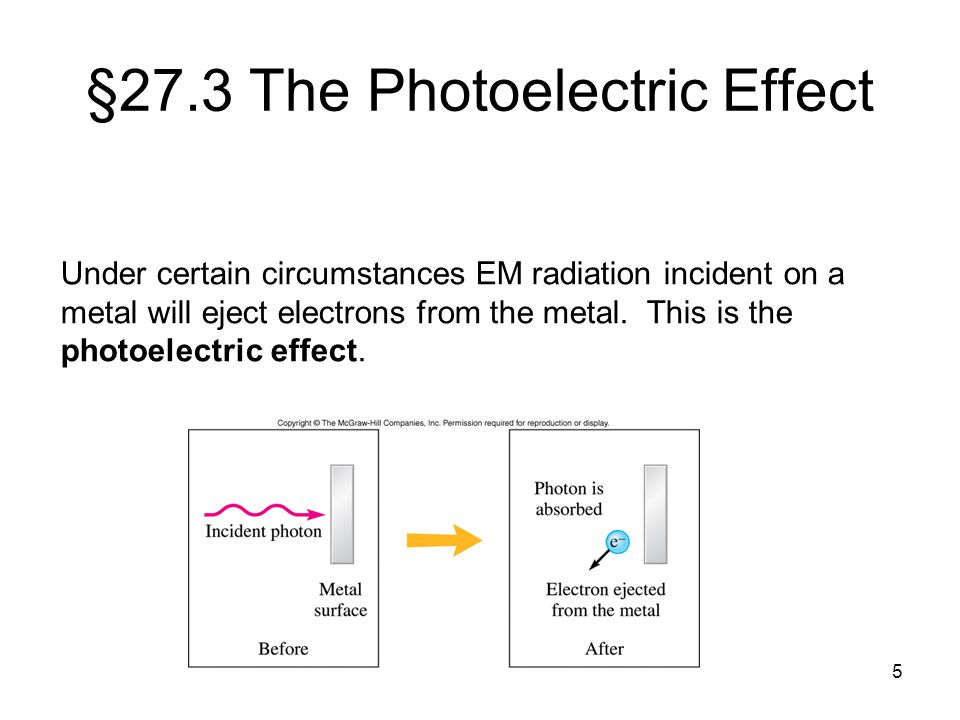 §27.3 The Photoelectric Effect