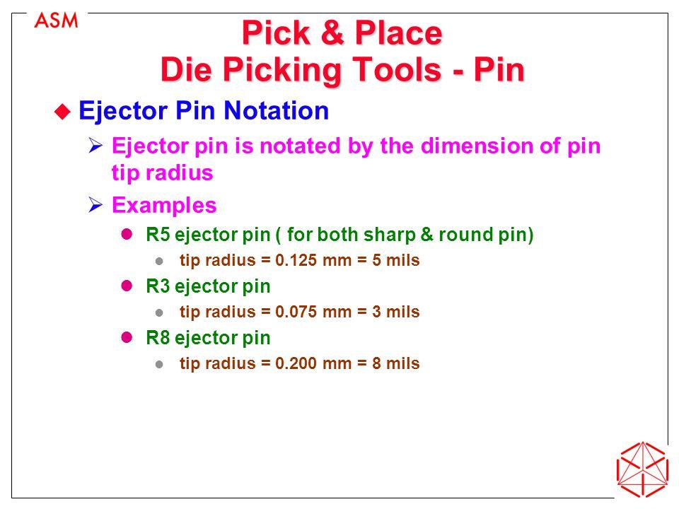 Pick & Place Die Picking Tools - Pin