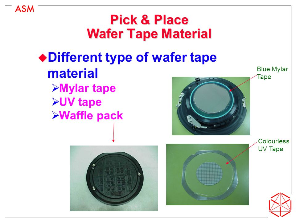 Pick & Place Wafer Tape Material