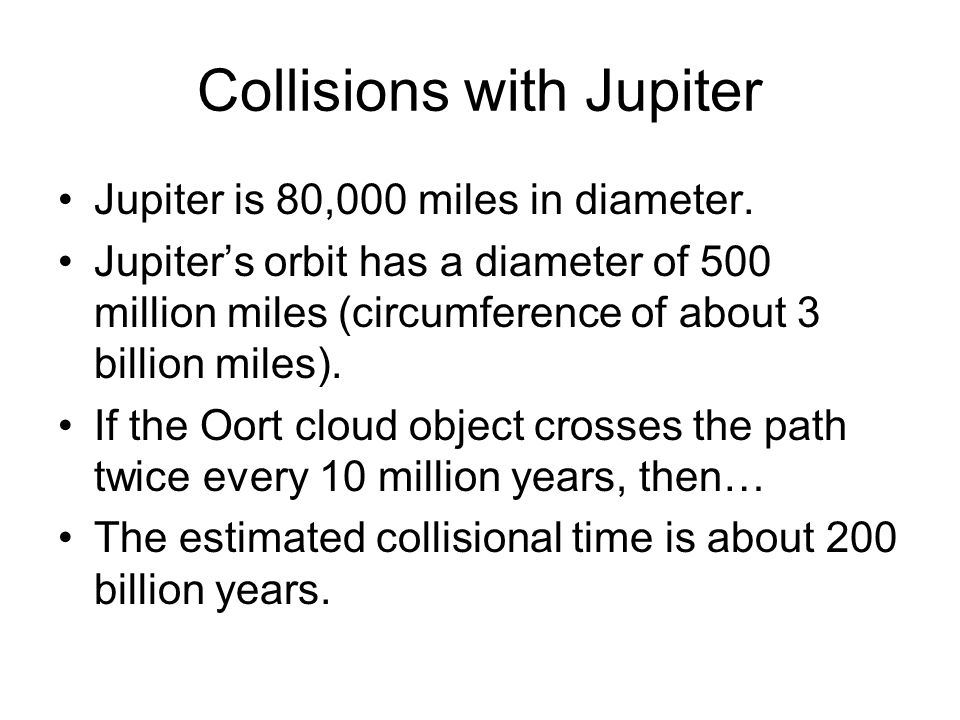 Collisions with Jupiter