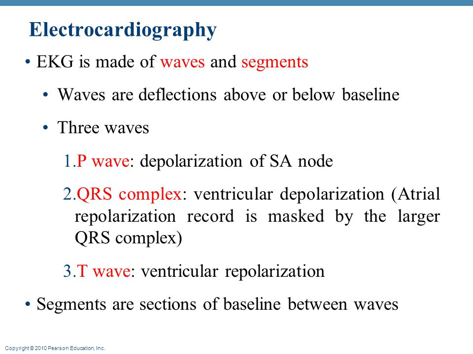 Electrocardiography EKG is made of waves and segments