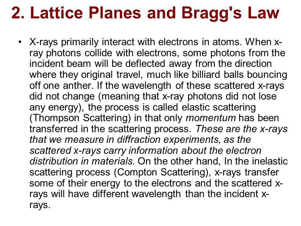 2. Lattice Planes and Bragg s Law