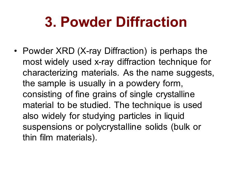 3. Powder Diffraction