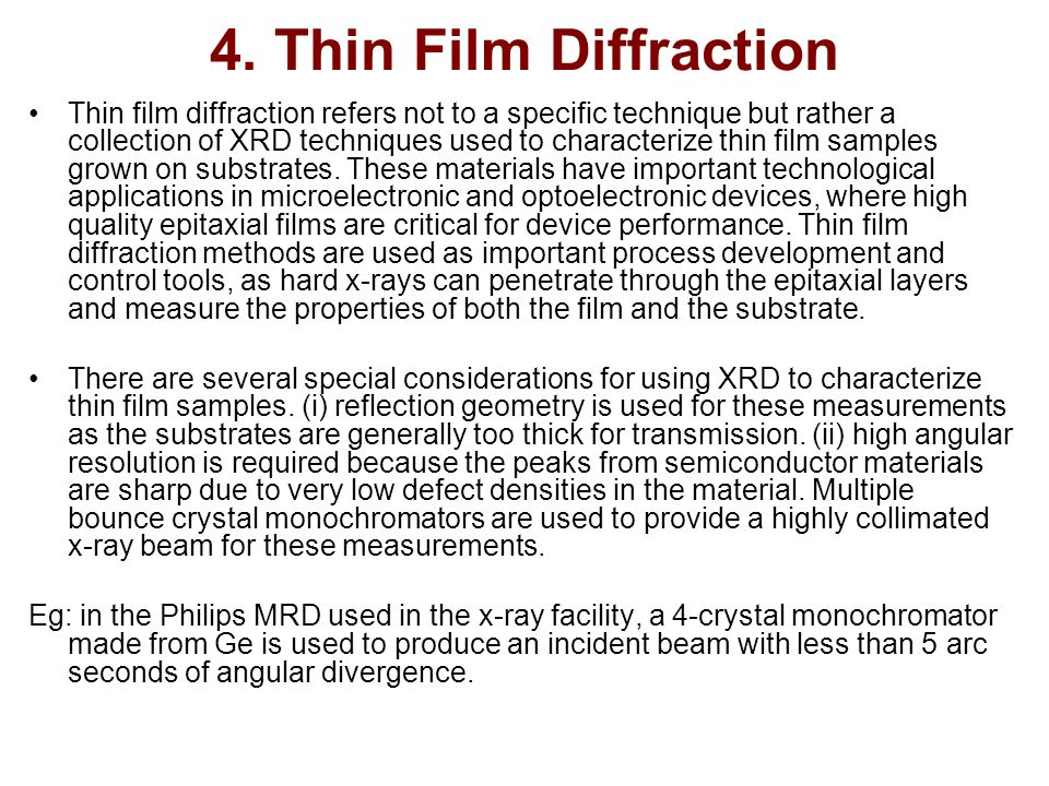 4. Thin Film Diffraction
