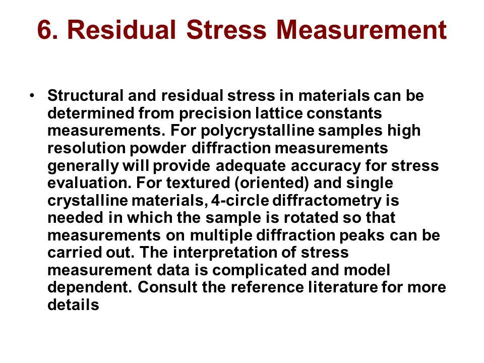 6. Residual Stress Measurement