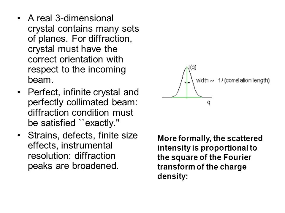 A real 3-dimensional crystal contains many sets of planes