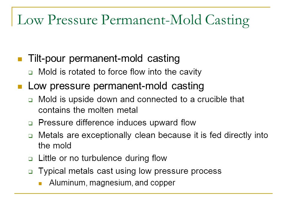Low Pressure Permanent-Mold Casting