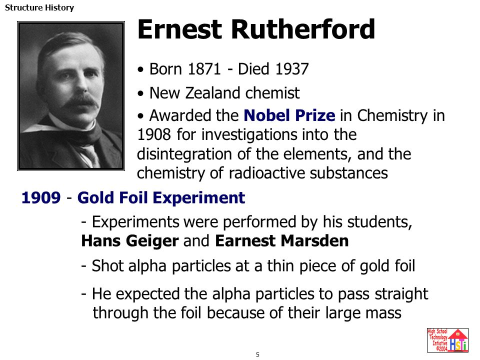 Ernest Rutherford Born 1871 - Died 1937 New Zealand chemist