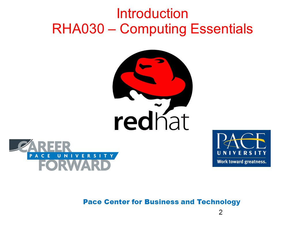 Introduction RHA030 – Computing Essentials