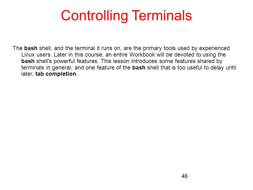 Controlling Terminals