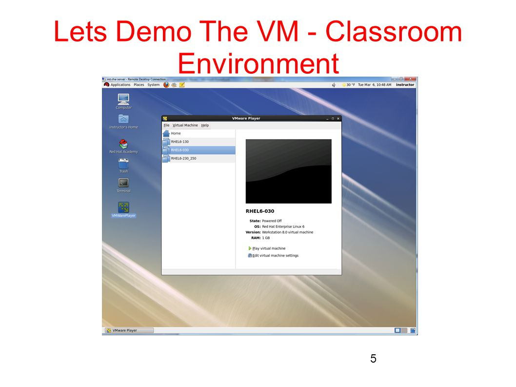 Lets Demo The VM - Classroom Environment