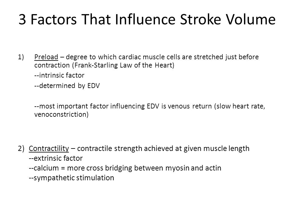 3 Factors That Influence Stroke Volume