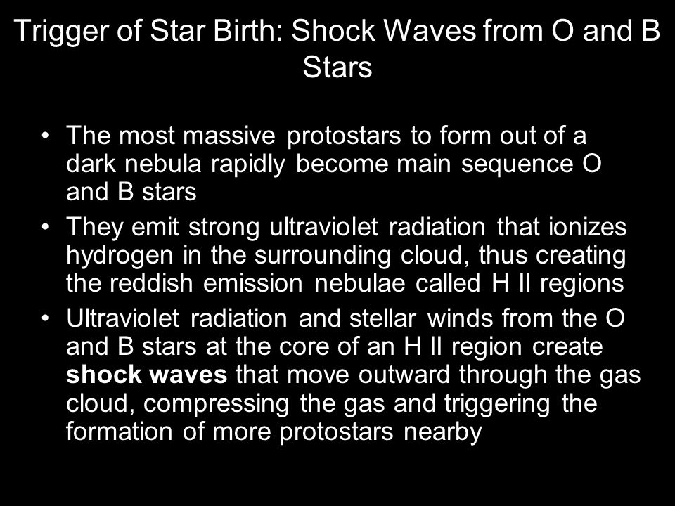 Trigger of Star Birth: Shock Waves from O and B Stars
