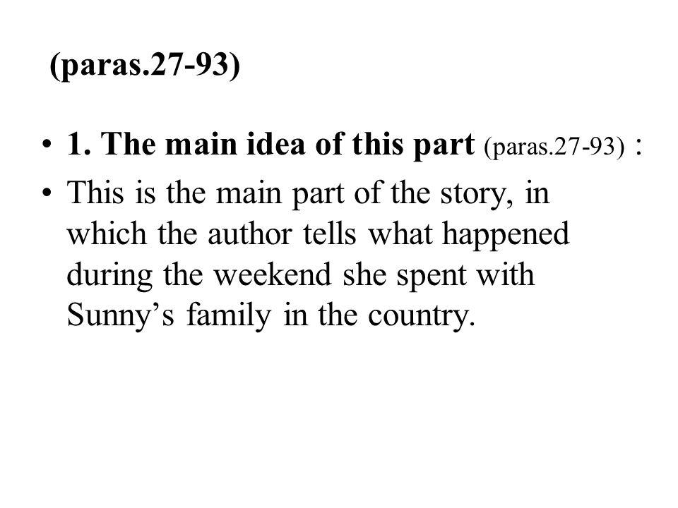 (paras.27-93) 1. The main idea of this part (paras.27-93) :
