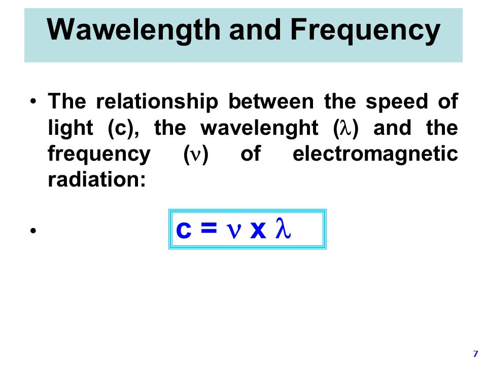 Wawelength and Frequency