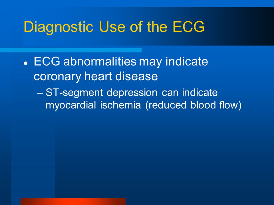 Diagnostic Use of the ECG